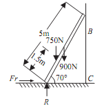 1417_Find the coefficient of friction between ladder and floor.png
