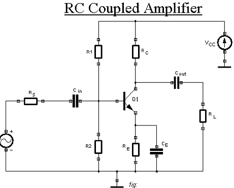 1505_Construction of a single stage RC coupled amplifier.png