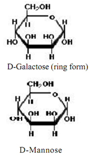 Write the chain structure of d galactose and d mannose ...