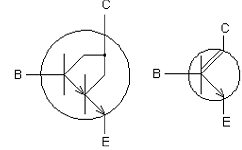 Darlington Transistor Symbol on ldr circuit pcb