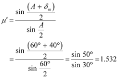 2477_Evaluate refractive index of the material of the prism.png