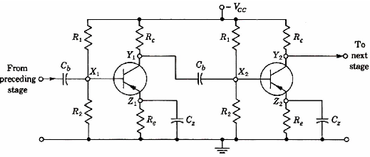 construction of a two stage rc coupled amplifier