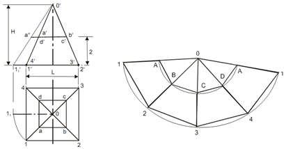873_Development of the Surface of a Truncated Pyramid.png